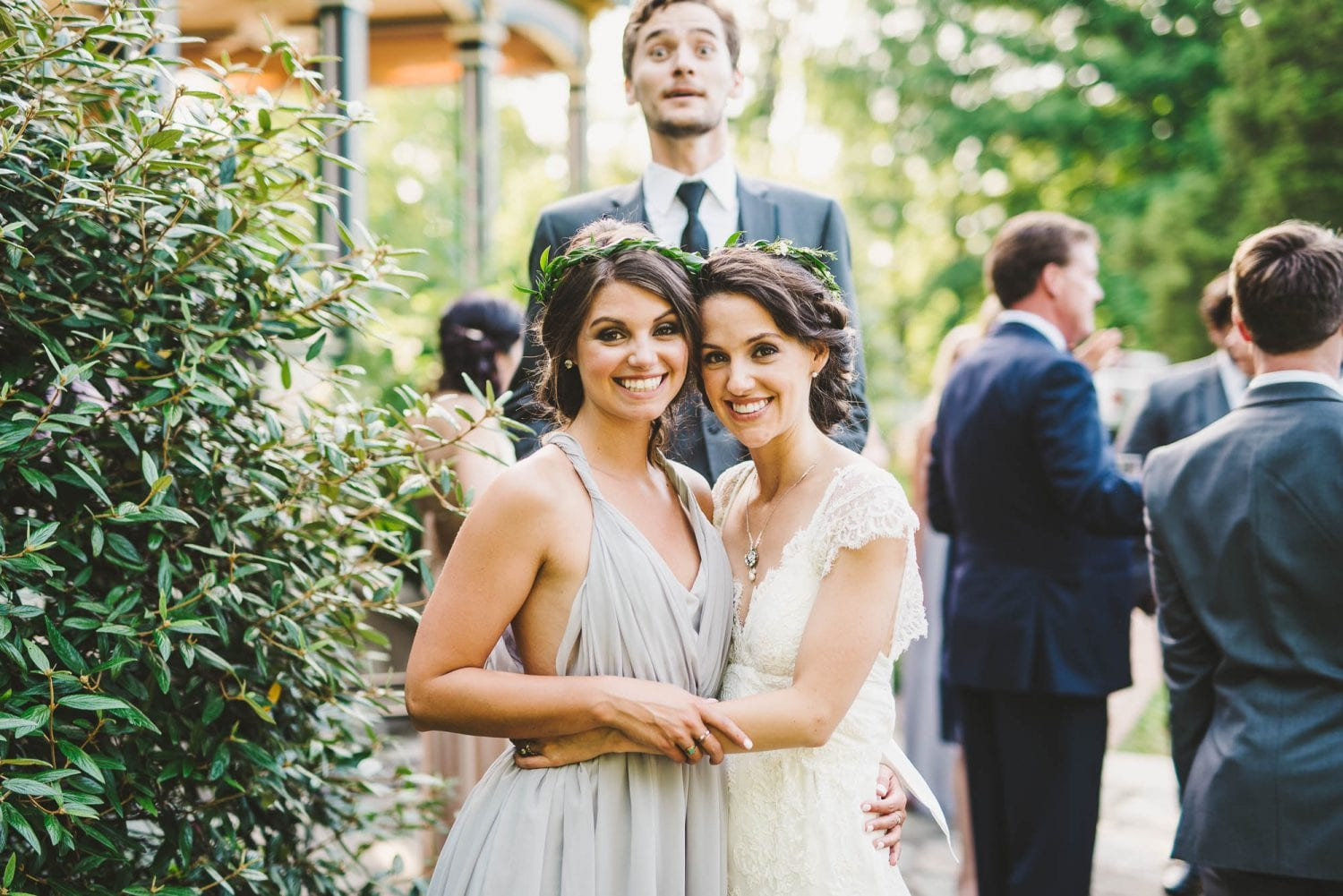 Wedding photo bomber