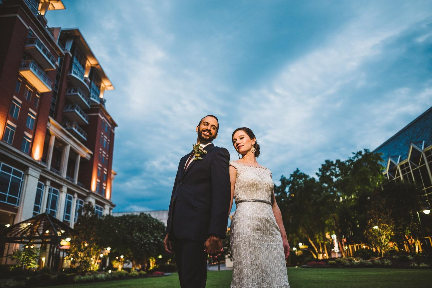 Downtown CLT wedding photo