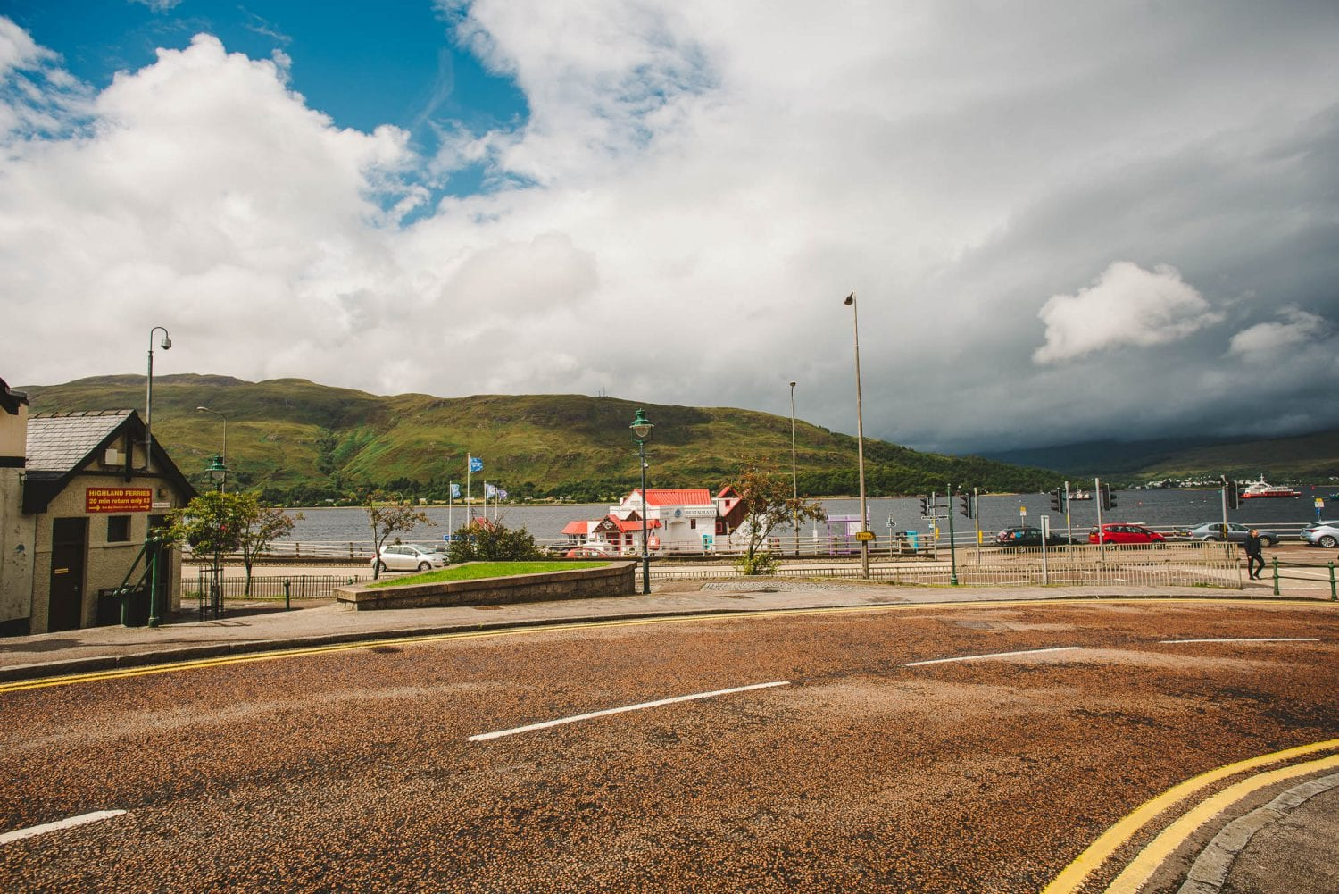 Fort William road near water