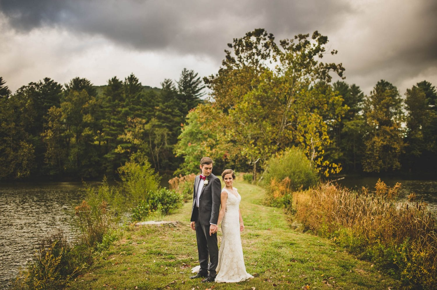 Wedding portrait in Black Mountain, NC