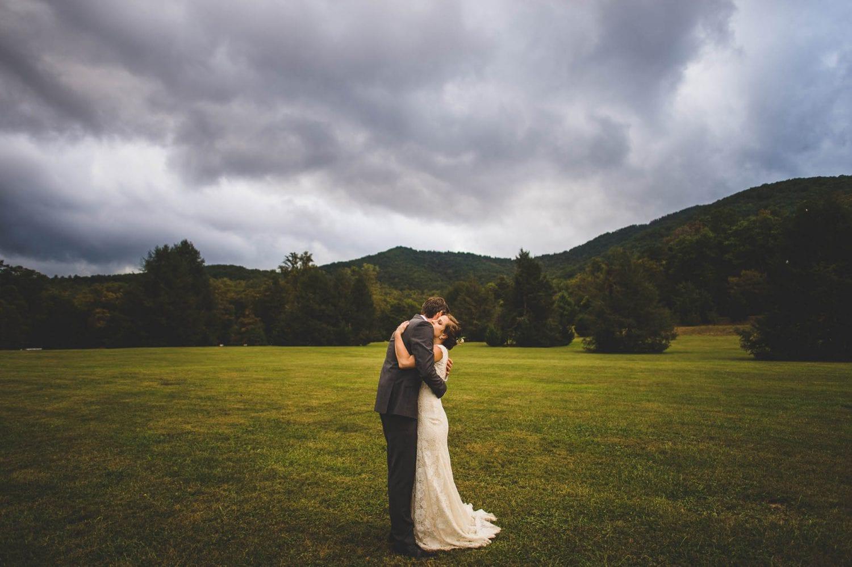 Moody wedding photo