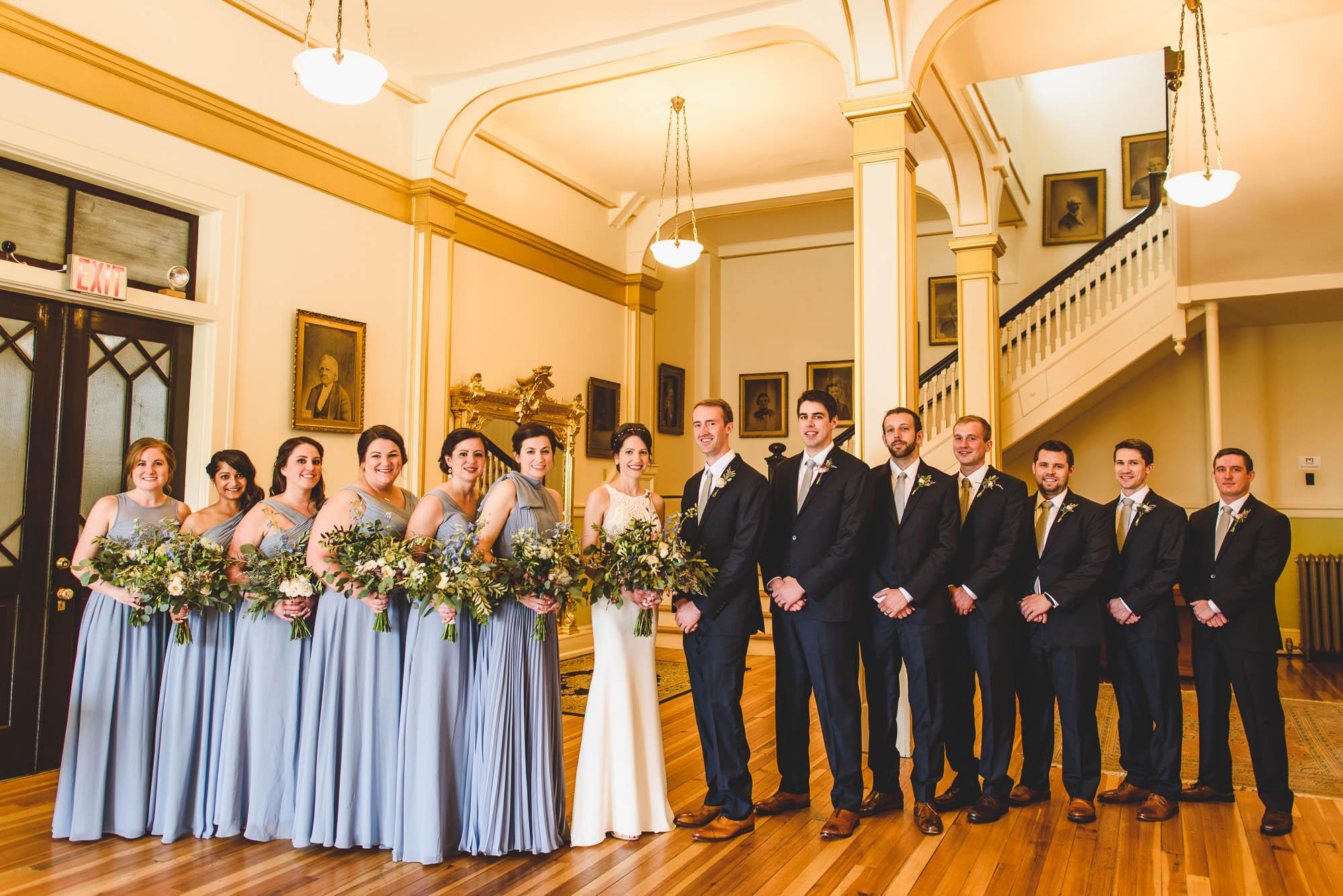 wedding party portrait