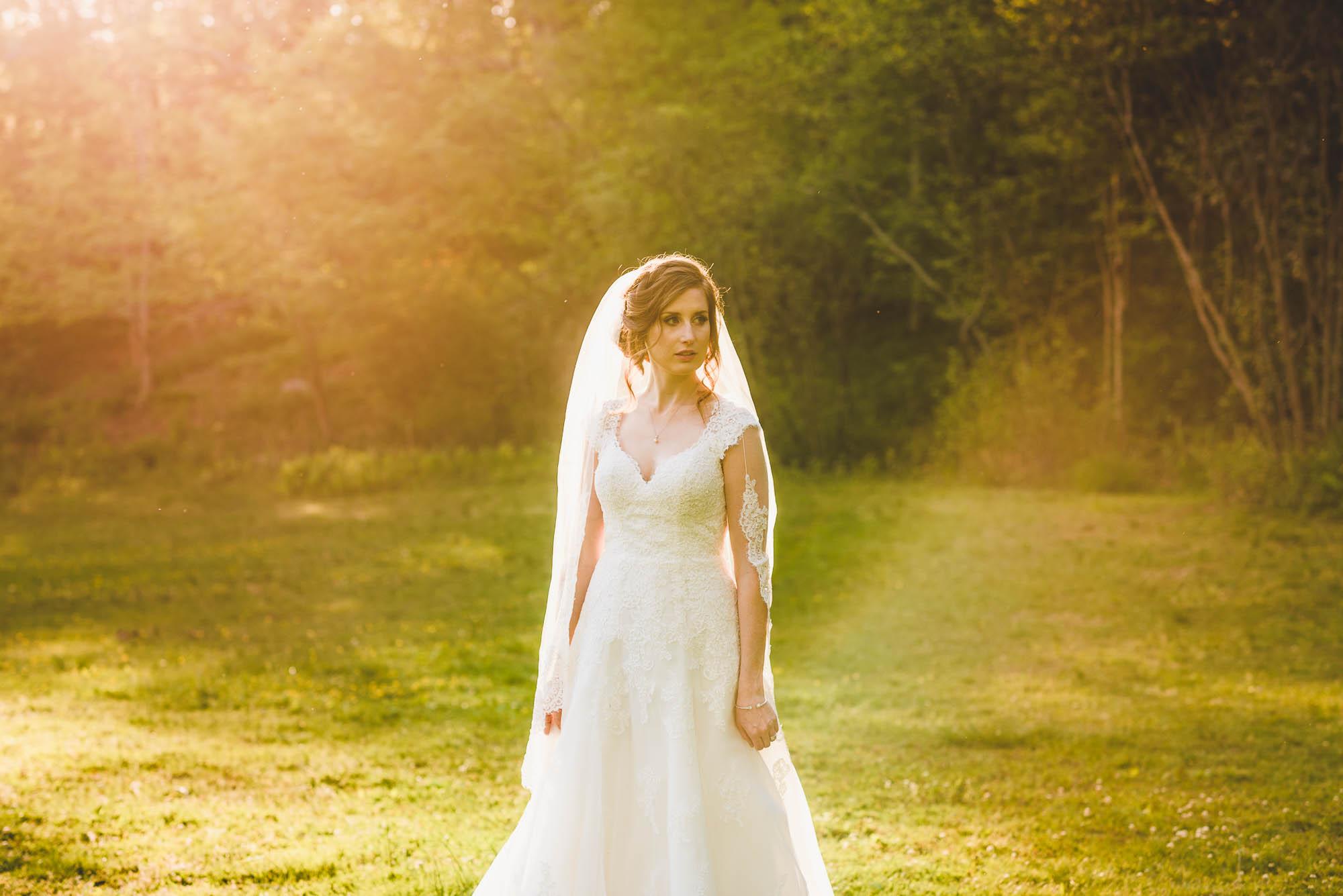 Sunflare wedding photo