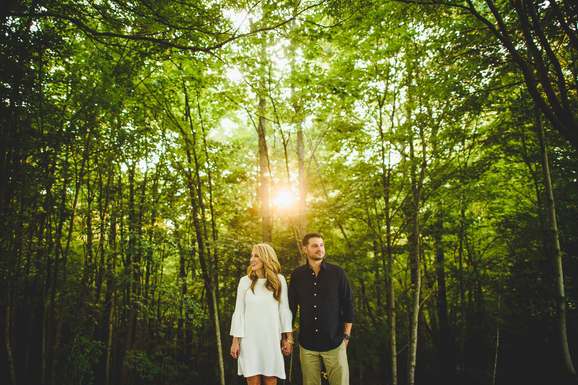 Arboretum engagement photography