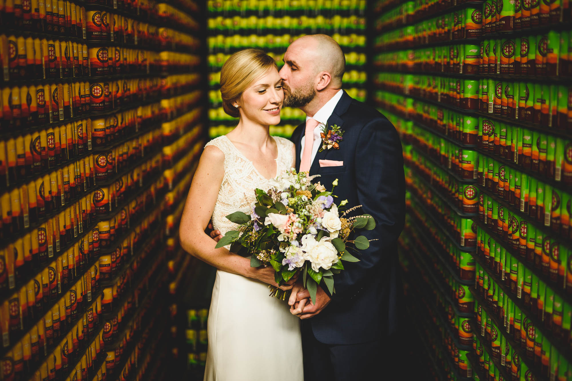 Asheville wedding at Highland Brewing CO