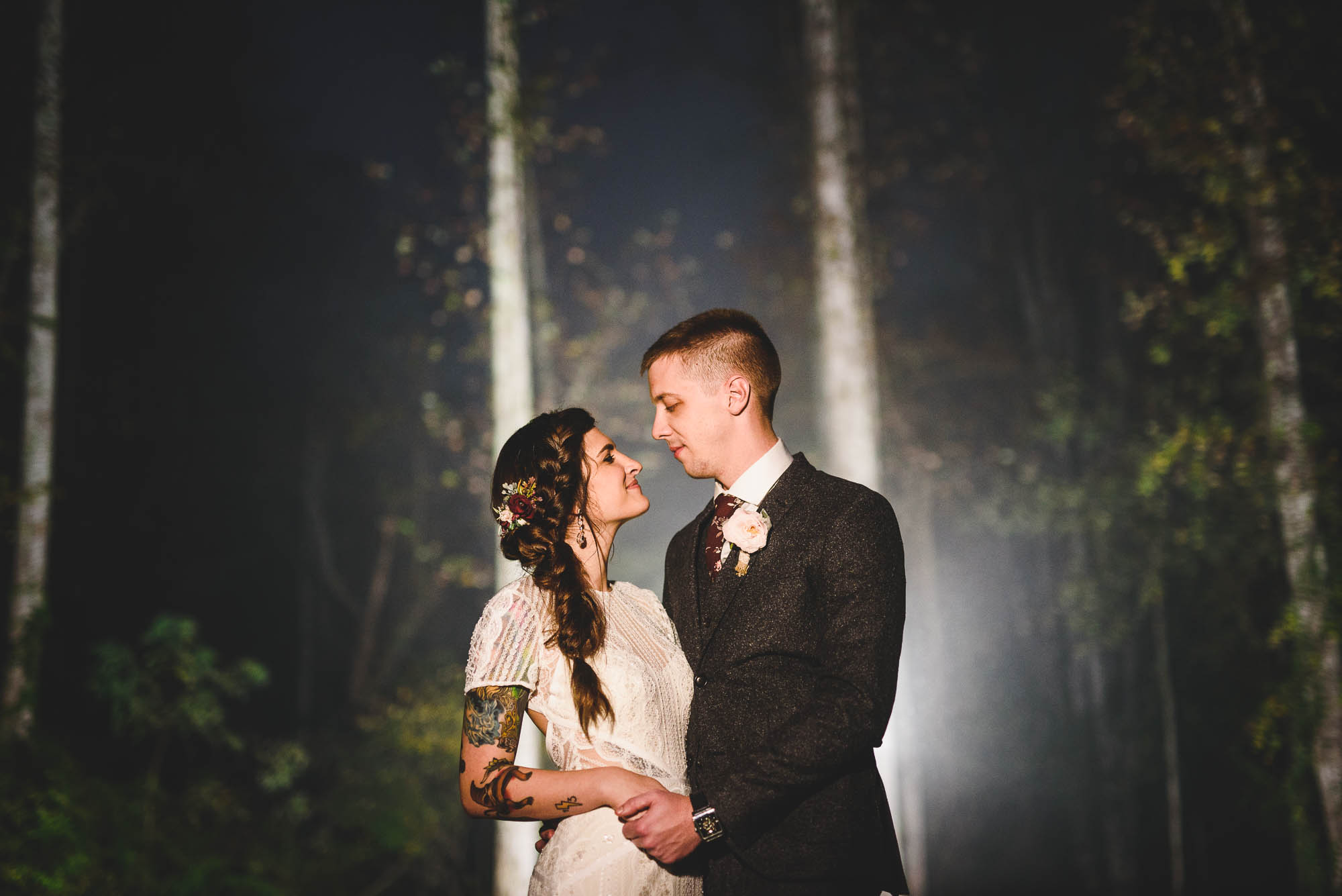 Foggy wedding photo