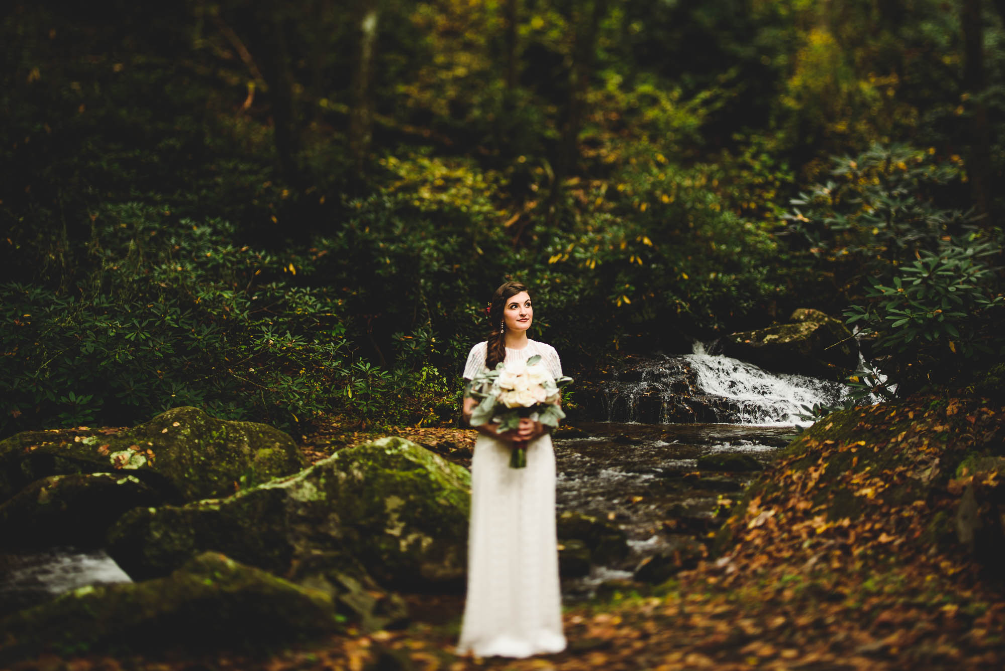 Bride by the water