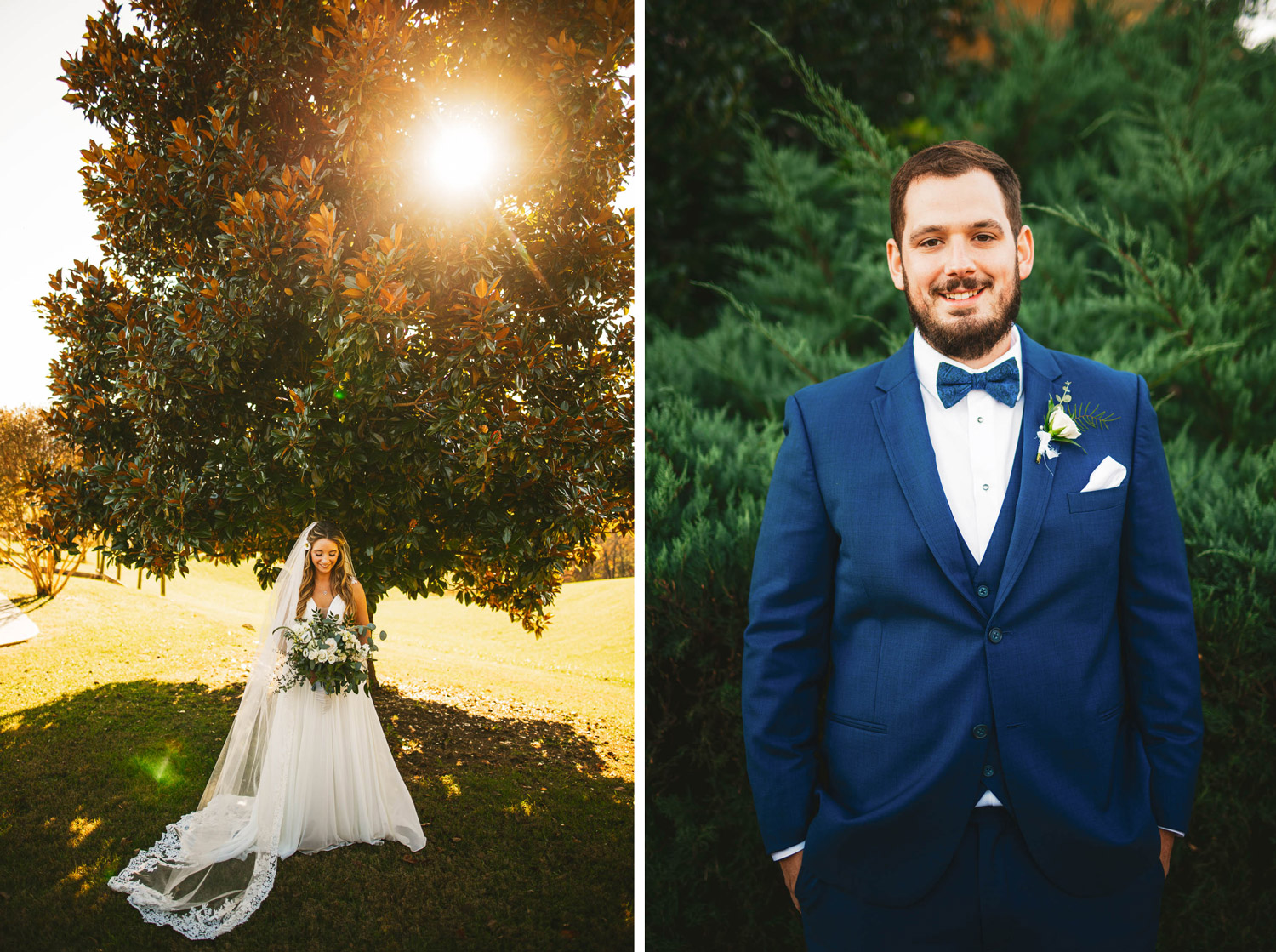 Bridal photo and groom portrait